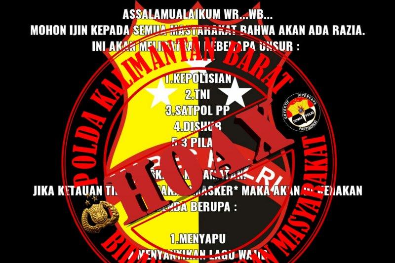 Polda Kalbar bantah masyarakat tidak gunakan masker didenda Rp250 ribu