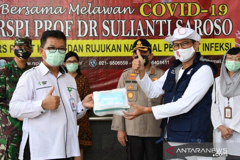 Sandiaga Uno bantu 4.600 APD bagi tenaga medis RSPI Sulianti Saroso