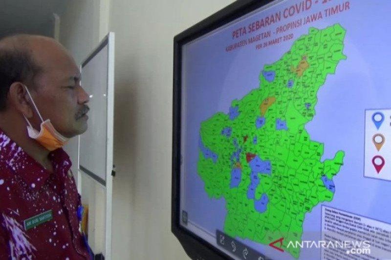 Sembilan kecamatan di Magetan masuk zona merah