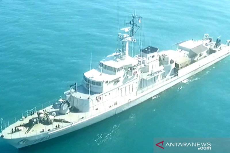 KRI Pulau Rimau-724 jaga perbatasan Indonesia-Filipina