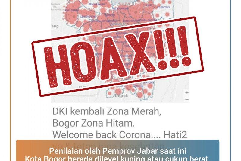 Hoaks, broadcast Kota Bogor zona hitam