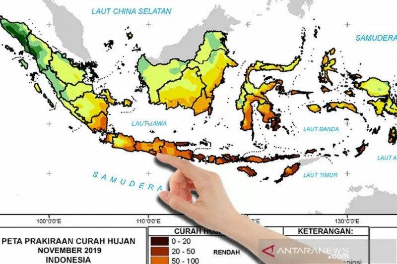 BMKG prakirakan curah hujan di Yogyakarta turun signifikan pada Juli