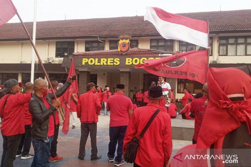 Polres Bogor serahkan laporan PDI Perjuangan ke Polda Metro Jaya