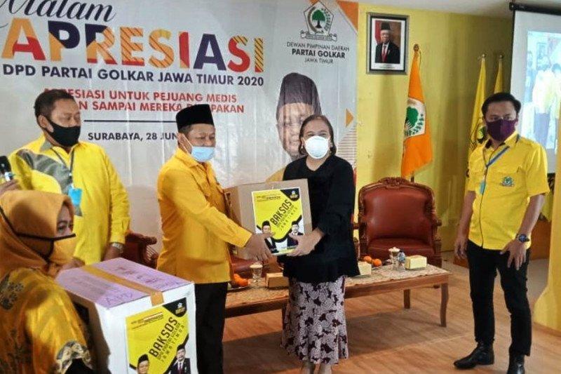 Golkar Jatim apresiasi tim medis rawat pasien COVID-19