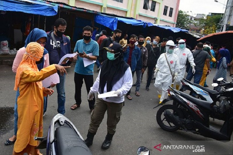 Pemkot Pekanbaru akan lanjut tes usap massal di Pasar Rumbai