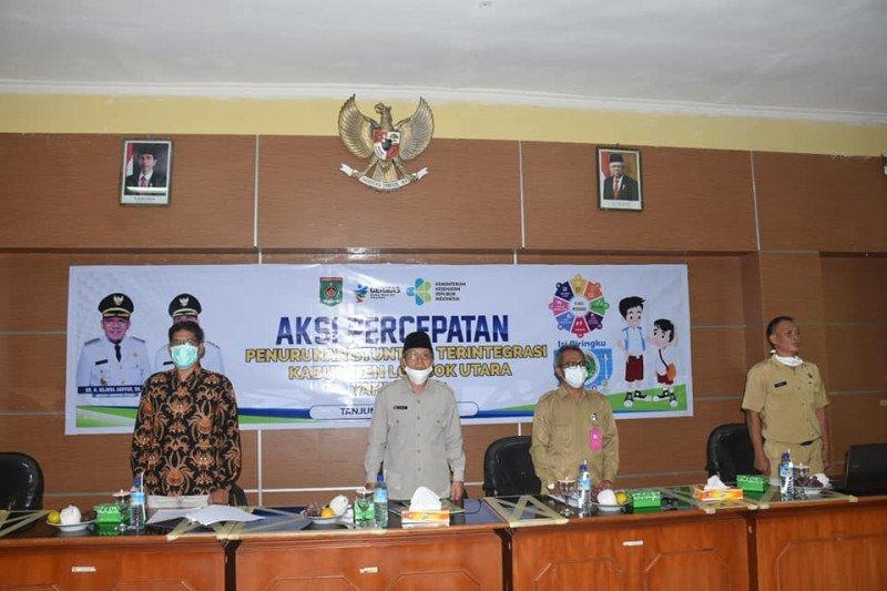 Sekda Lombok Utara buka aksi percepatan penurunan stunting terintergrasi 2021