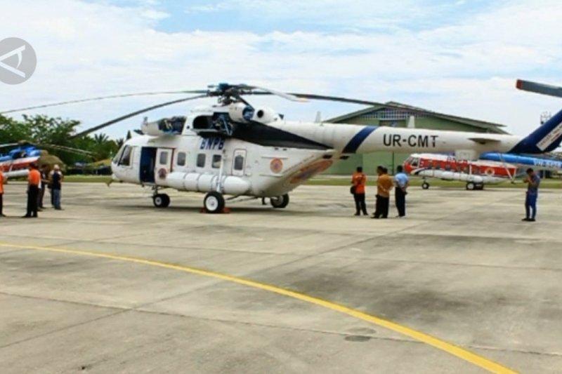Karhutla mulai terjadi di Riau, 7 helikopter BNPB telah siap