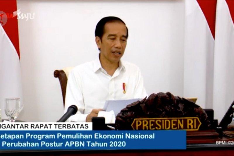 Presiden instruksikan pemulihan ekonomi dengan konsep berbagi beban