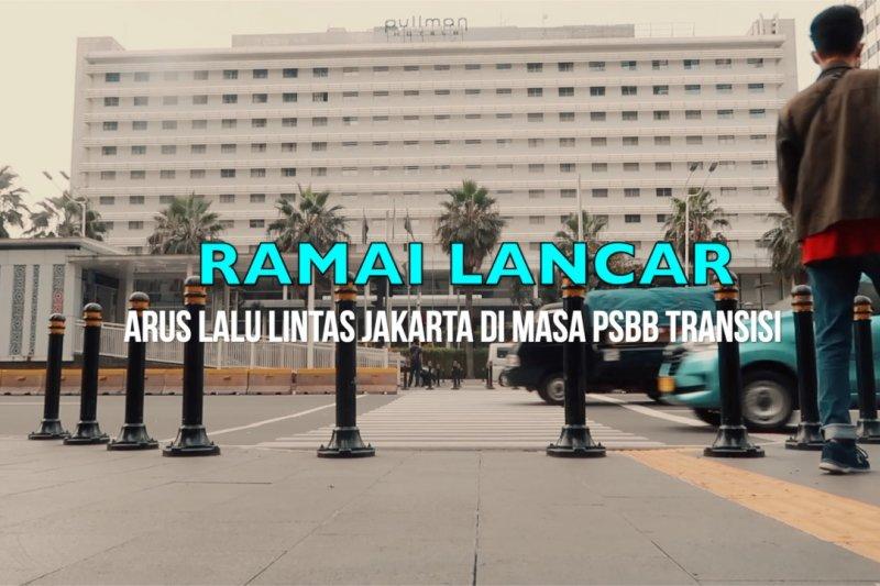 Ramai lancar, arus lalu lintas Jakarta di masa PSBBtransisi