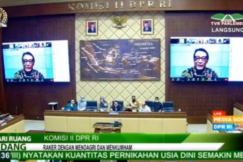Dua kali tak hadir RDP, Menkumham ditegur keras Komisi II DPR