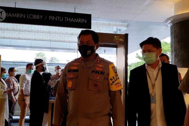 Kapolda Metro Jaya tinjau penerapan protokol kesehatan di Plaza Indonesia