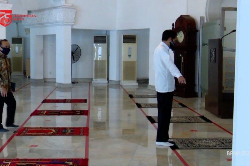 Presiden tinjau Masjid Istana Kepresidenan