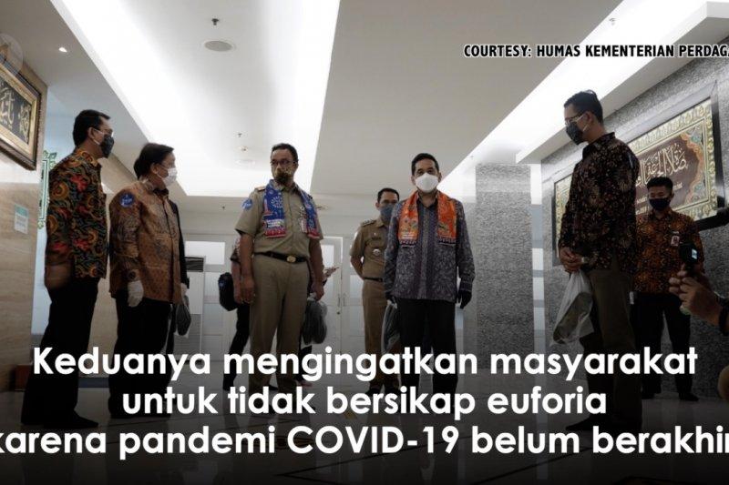 Mendag bersama Gubernur DKI tinjau mal di Jakarta Selatan