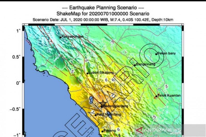 Segmen Sianok di Sumbar berpotensi gempa kuat yang perlu diwaspadai