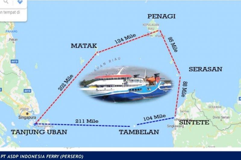 ASDP buka rute pelayaran Tanjung Uban Kepri- Sintete Kalbar