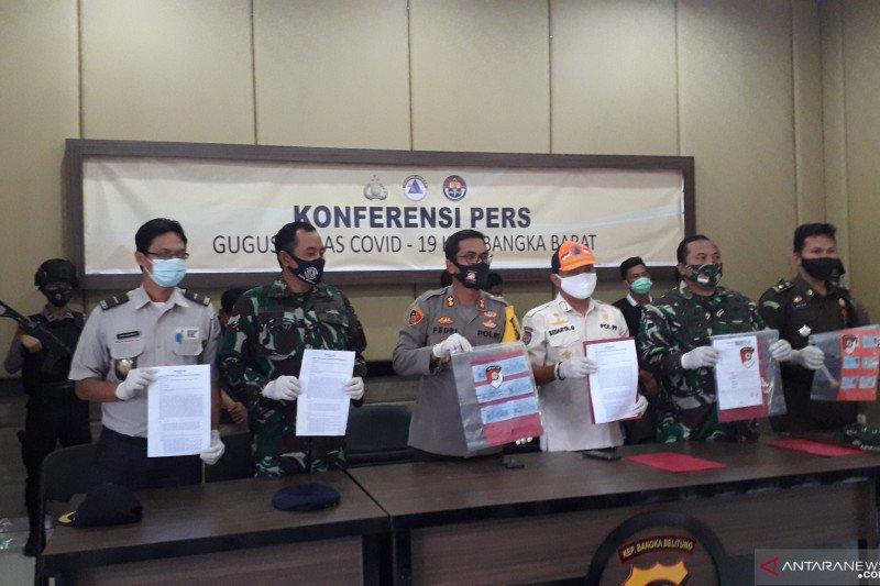 Polisi Bangka Barat kejar pemalsu dokumen tes cepat COVID-19