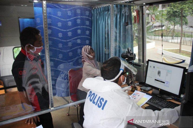 SIM Keliling sambangi lima lokasi di Jakarta pada Selasa