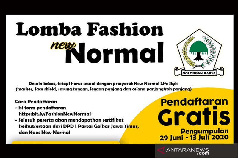 Lomba fashion normal baru digelar di Surabaya