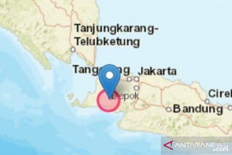 Getaran gempa berpusat di Banten terasa hingga Sukabumi