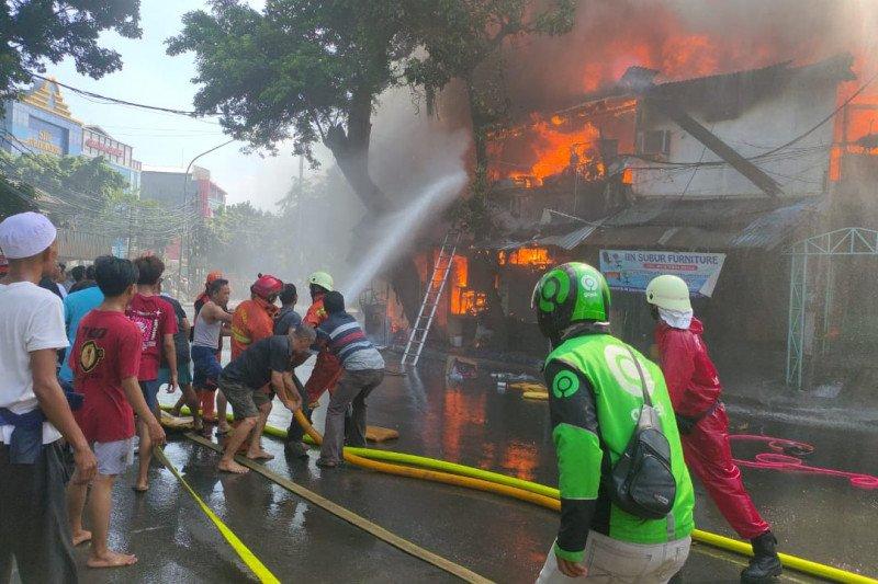 Kebocoran gas diduga penyebab kebakaran di kawasan Pondok Rumput