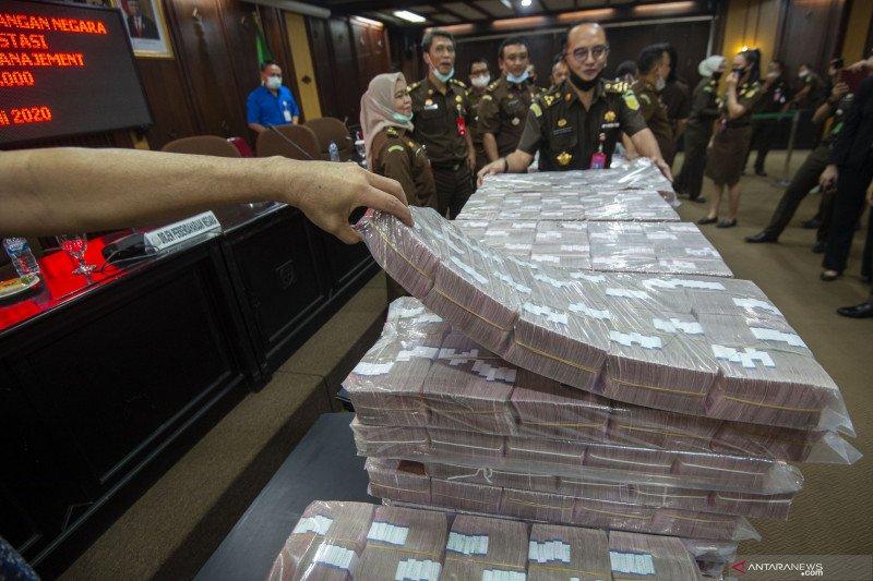 Uang sitaan hasil eksekusi kasus korupsi kondensat dan Jiwasraya