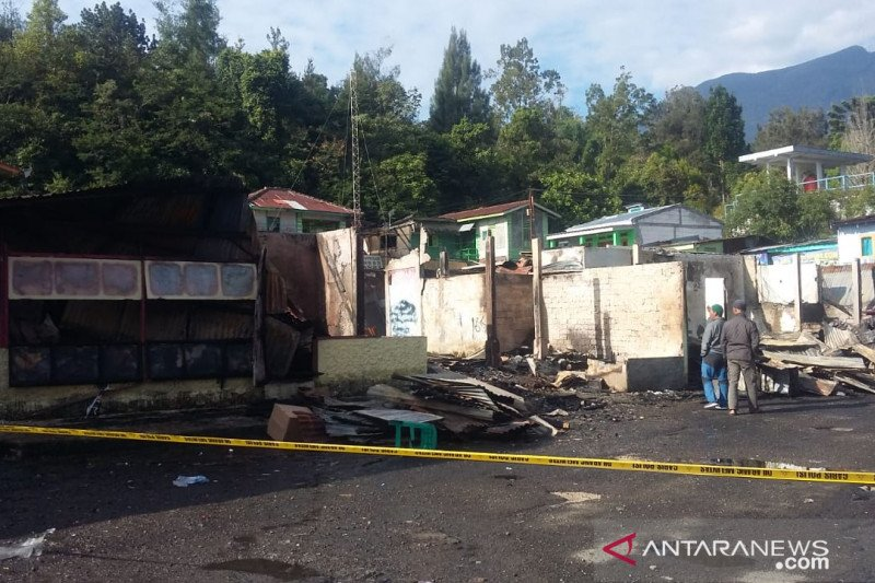 Kios di Kebun Raya Cibodas terbakar, Pemilik: Kami butuh bantuan
