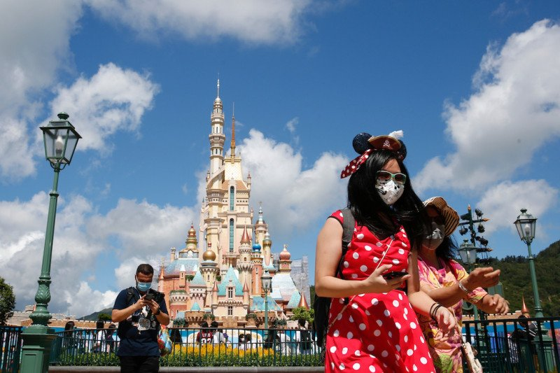 Baru dibuka, Disneyland Hong Kong tutup lagi besok