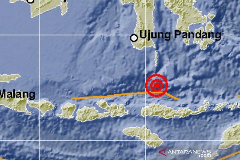 Gempa magnitudo 5,5 guncang Laut Flores, dirasakan hingga Denpasar