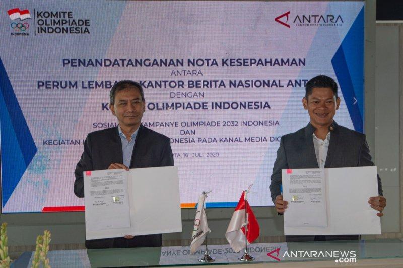 KOI dan ANTARA kerja sama dukung Indonesia tuan rumah Olimpiade 2032