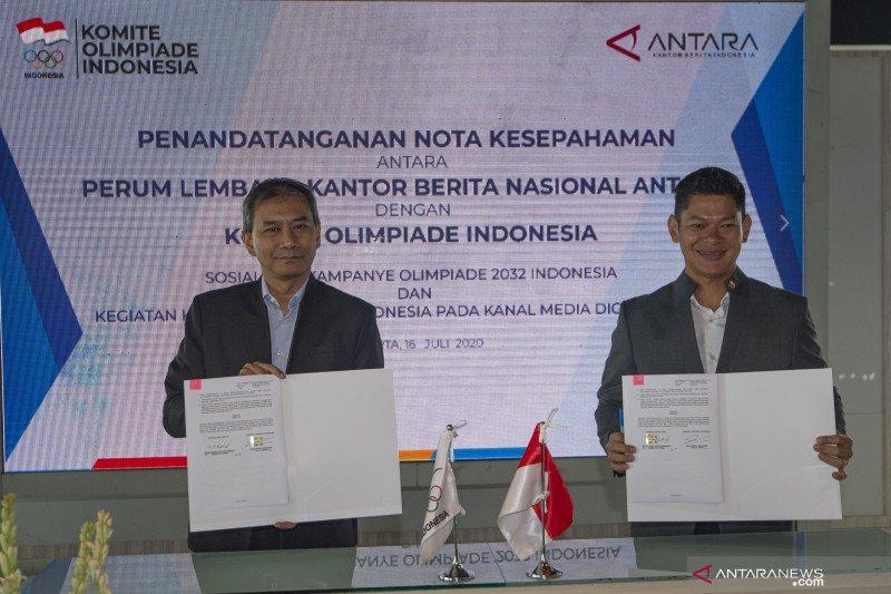 ANTARA dan KOI kerja sama sosialisasi Indonesia jadi tuan rumah Olimpiade