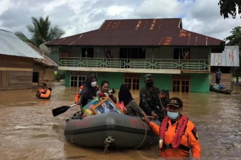 Korban terdampak banjir Konawe Utara Sultra bertambah menjadi 1.527 KK