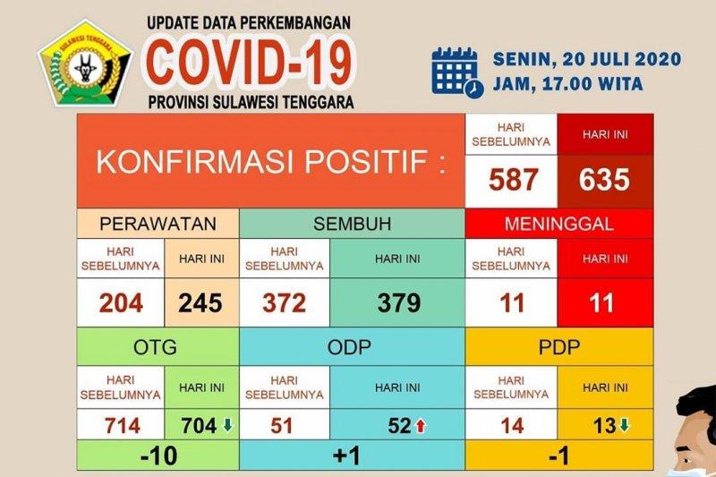 Gugus Sultra: Pasien positif COVID-19 di Sultra bertambah 48