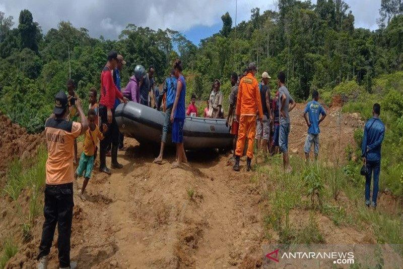 Jasad korban tewas diterkam buaya di Nabire-Papua dievakuasi tim SAR