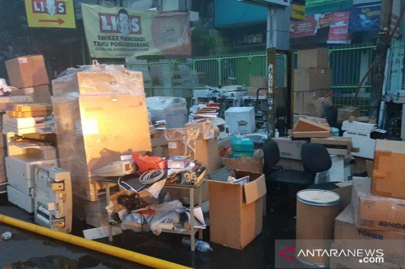 Polisi telah olah TKP kebakaran ruko di Tanjung Duren