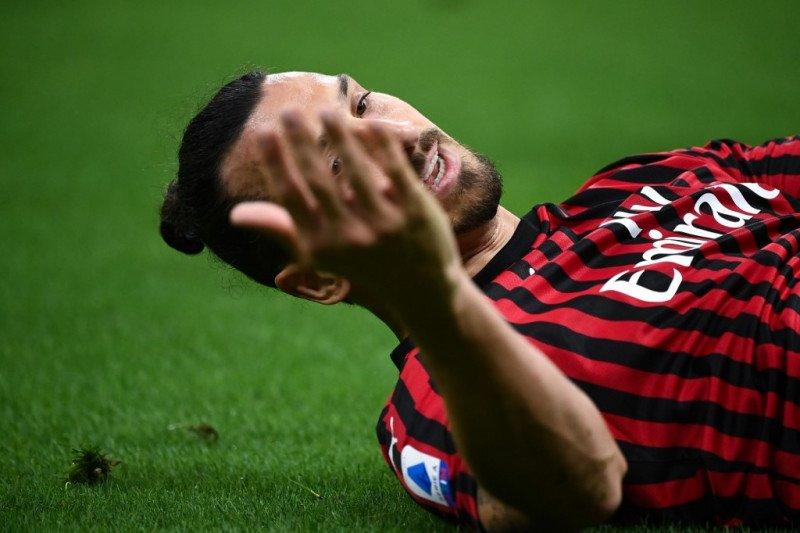 Dua gol Ibrahimovic antarkan AC Milan ke Liga Europa