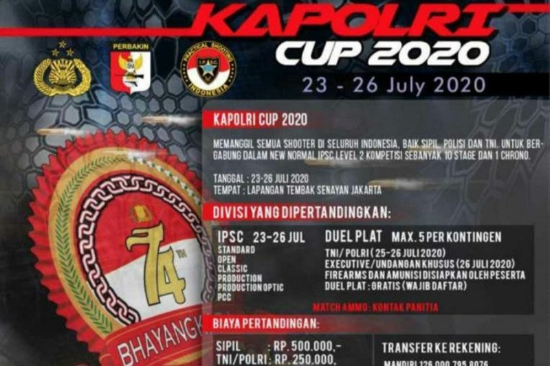 Peringati Hari Bhayangkara Polri gelar kejuaraan menembak Kapolri Cup