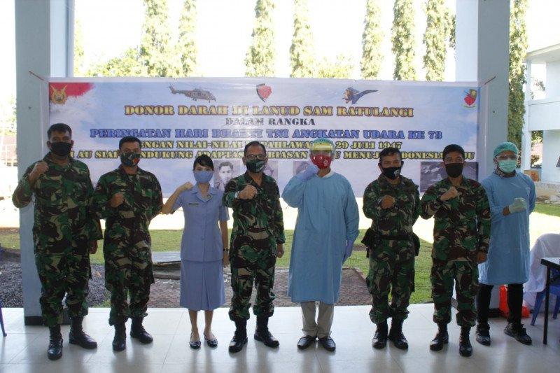 Hari Bakti TNI-AU saat pandemi, Lanud Sam Ratulangi gelar donor darah
