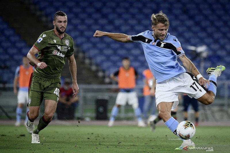 Lazio bangkit dari ketinggalan untuk menang 2-1 atas tamunya Cagliari