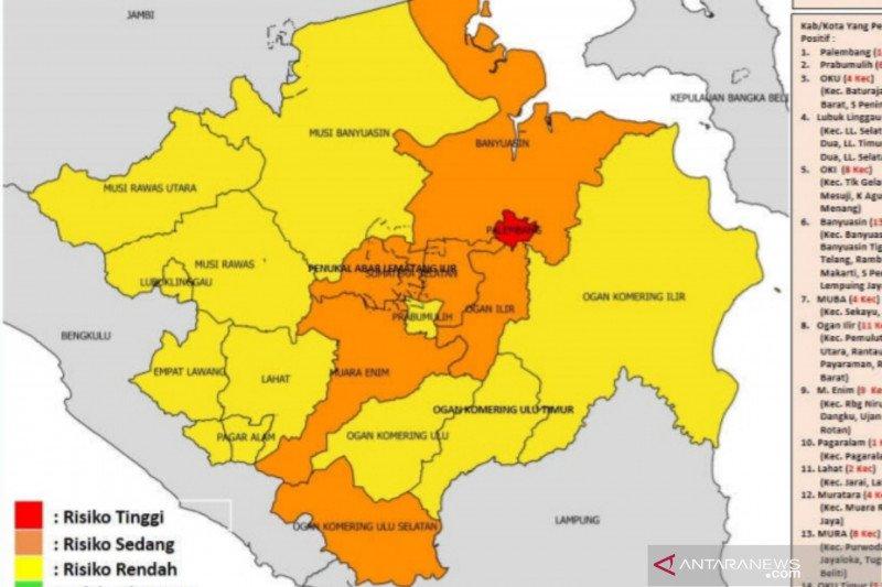Palembang kembali ke zona merah COVID-19