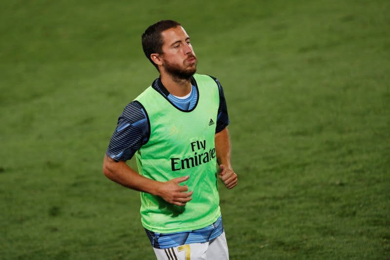 Cedera lagi, Eden Hazard terancam absen selama enam pekan di Real Madrid