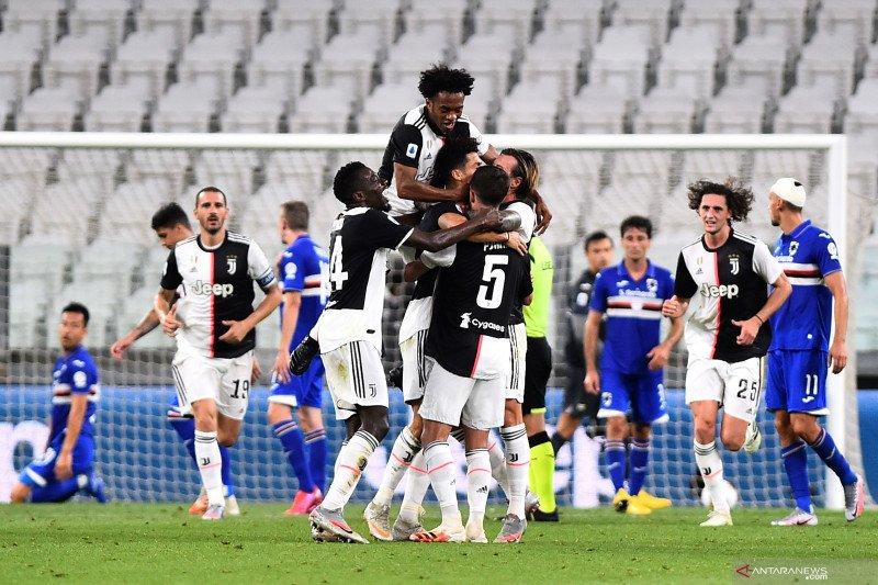 Juventus kunci Scudetto Liga Italia setelah kalahkan Sampdoria