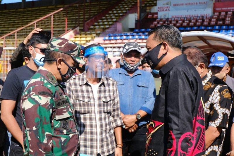 Polisi disiagakan dalam pengosongan Stadion Andi Mattalatta