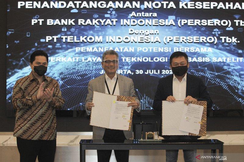 Kolaborasi BRI dan Telkom untuk tingkatkan layanan satelit