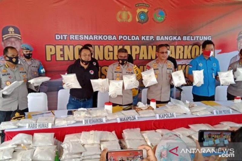 Polda Babel kejar jaringan penyelundupan sabu-sabu 200 kg
