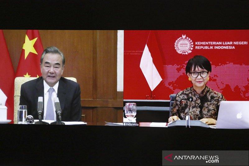 Menlu RI-China tegaskan dukungan untuk kerja sama vaksin