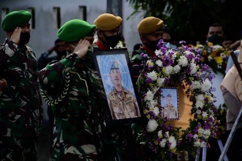 Pemakaman Pelda Anumerta Rama di TMP dan perhatian khusus dari PBB