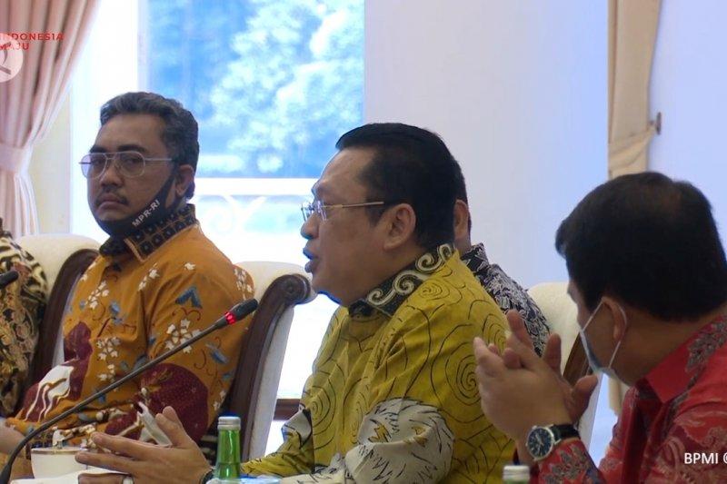 Ketua MPR bertemu presiden bahas sidang tahunan format baru
