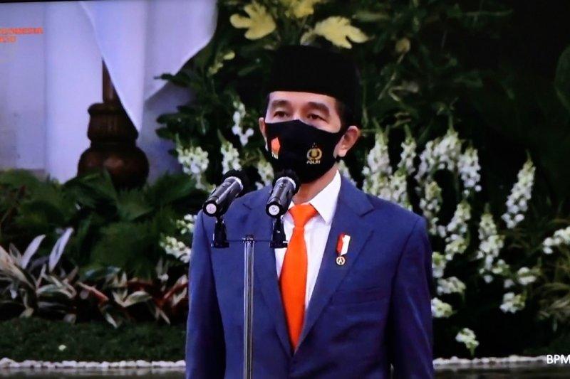 Pimpin HUT Bhayangkara ke-74, Presiden sebut tantangan Polri