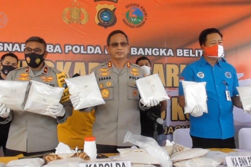 Polda Babel tangani kasus penyelundupan 200 kg sabu-sabu asal Myanmar