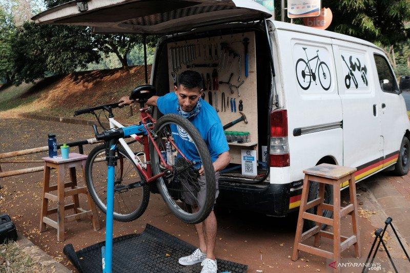 Layanan bengkel sepeda bergerak